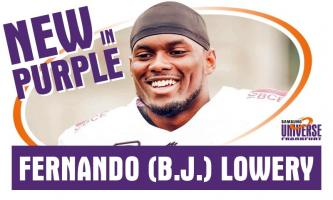"Fernando (B.J) Lowery verstärkt die Defense der ""Men in Purple"""